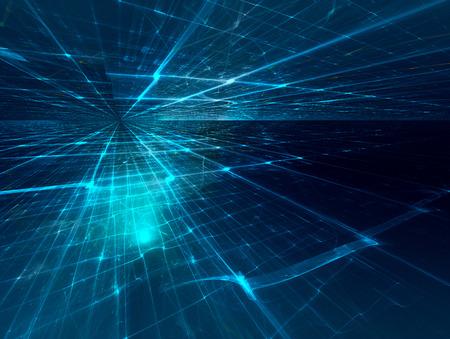 futuristic background with fractal horizon