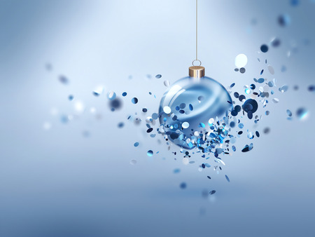glowing ball: Festive Christmas background with glowing ball