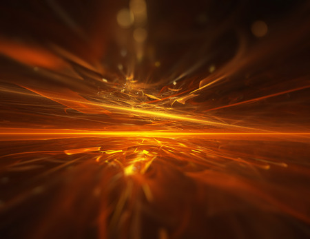 abstract fire: fire fractal horizon background