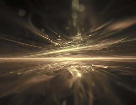 energy background: Golden Horizon fractal background Stock Photo