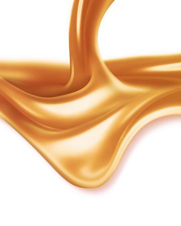 白い背景の上の液体キャラメル 写真素材