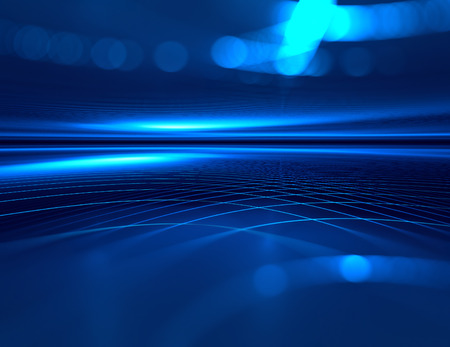 blue horizon futuristic technology background. Stock Photo