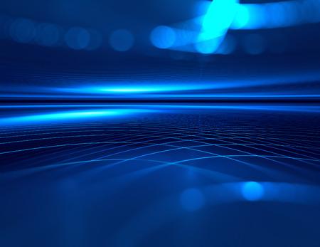 abstrato: horizonte azul tecnologia futurista fundo Imagens