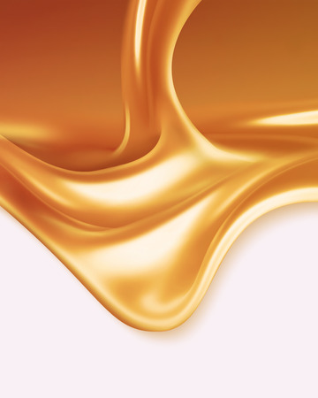 liquid: liquid caramel on white background