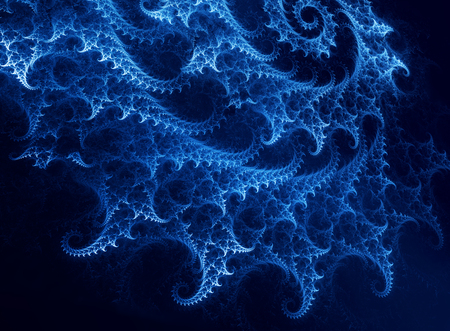 futuristic nature: abstract background with spiral fractal