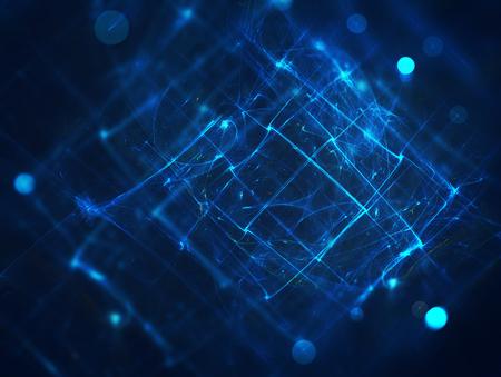 fondos azules: Fondo de tecnología futurista con líneas brillantes