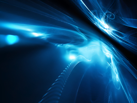 Futuristisch Hintergrund mit fraktalen Horizont Standard-Bild - 45218123