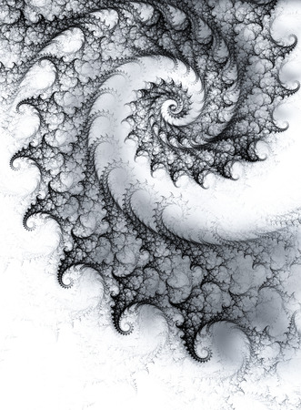spiral: Abstract monochrome background with spiral fractal