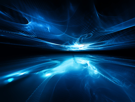 futuristic background with fractal horizon