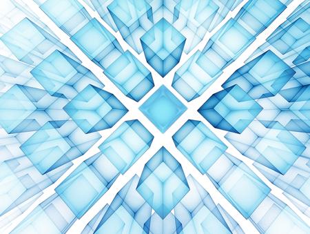 사각형 미래의 기술 배경 스톡 콘텐츠 - 45835606