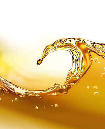 liquid: Oil wave on a light background