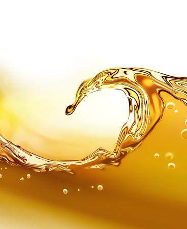 huile: Vague � l'huile sur un fond clair Banque d'images