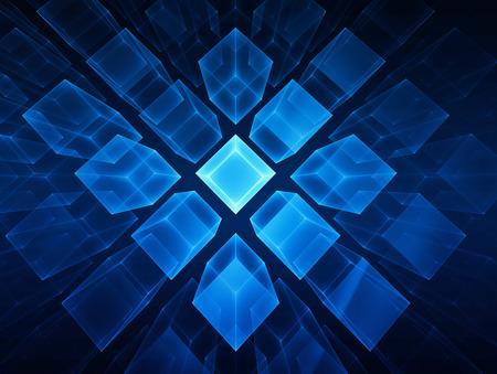 正方形の未来の技術の背景