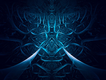 Abstract fractal design with 3D effect