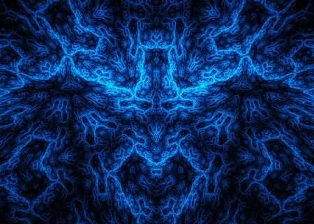 effect: Abstract fractal design with 3D effect