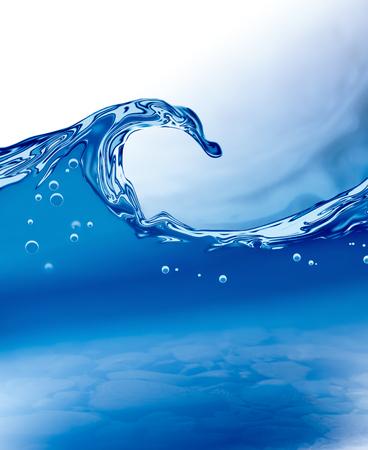 空気の泡で抽象的な水の波
