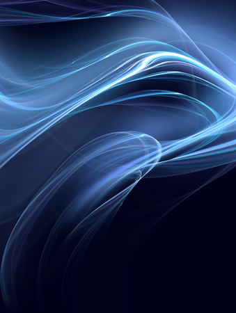 abstract black: glowing blue lines on a dark background