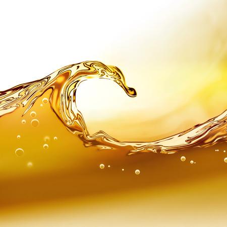 vague: Vague � l'huile sur un fond clair Banque d'images
