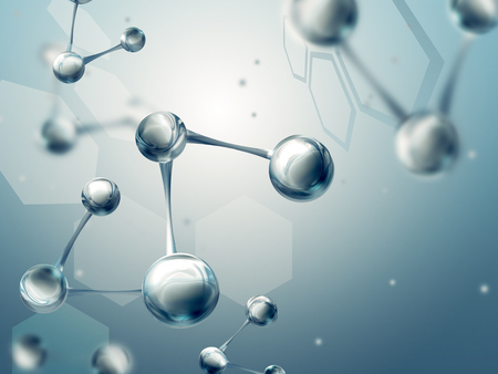 physics: Science background with molecules Stock Photo