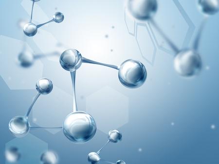 biologia: Fondo de la ciencia con moléculas