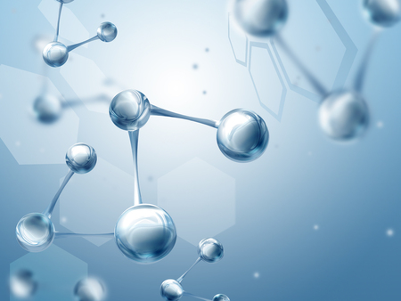 biotech: Science background with molecules Stock Photo