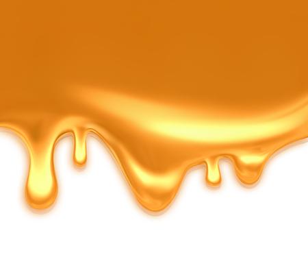 jarabe: goteo de caramelo sobre fondo claro Foto de archivo