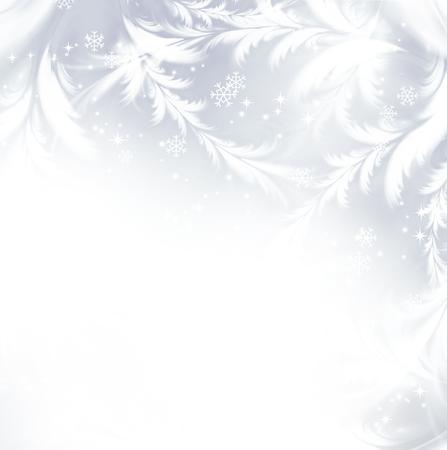 flocon de neige: Festival d'hiver de fond argenté avec des flocons de neige blancs Banque d'images