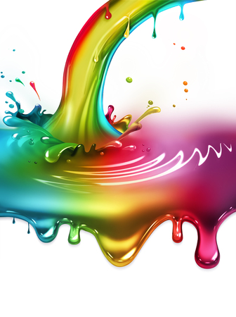 messy paint: rainbow paint splash - concept design