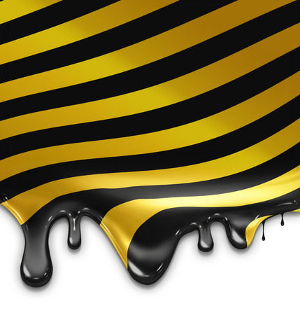 black yellow: dripping striped black yellow paint as a warning background