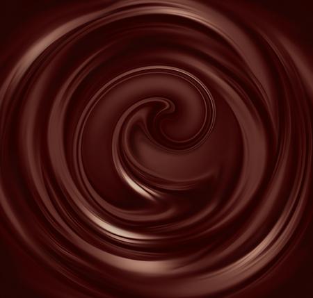 cacao: flujo de pantalla completa chocolate líquido como fondo Foto de archivo
