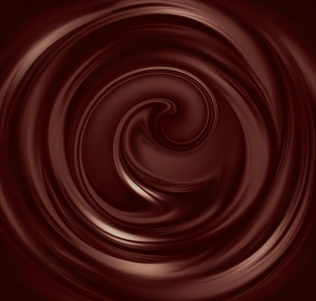 flow of liquid chocolate full screen as background Banque d'images