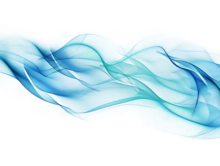 滑らかな青いラインと抽象的な光の背景