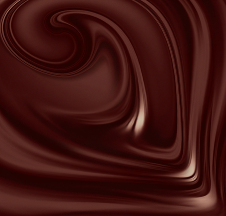 melt: flow of liquid chocolate full screen as background Stock Photo