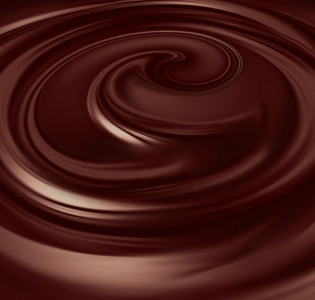 flow of liquid chocolate full screen as background Standard-Bild