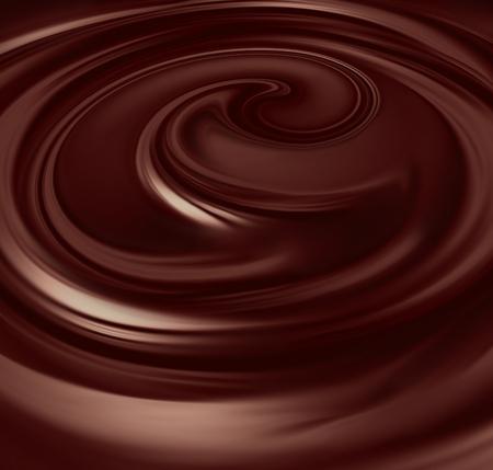 chocolate melt: Flusso di cioccolato liquido schermo intero come sfondo Archivio Fotografico