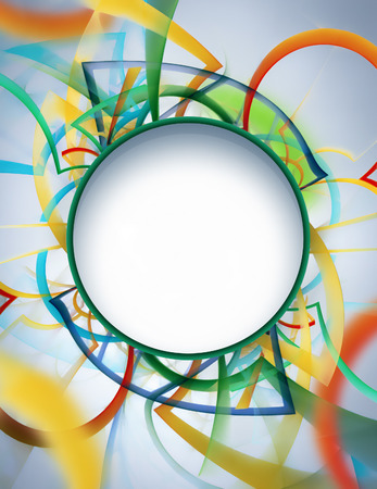illustration abstract: Abstract light background with multi-colored chaotic stripes