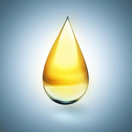 Gota de aceite con suave sombra sobre fondo claro Foto de archivo - 47320025