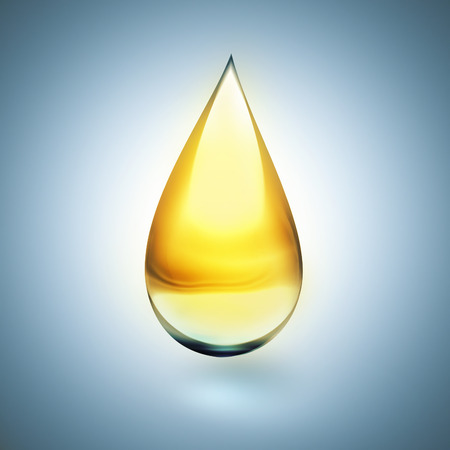 lubricant: oil drop with soft shadow on light background