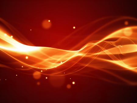 滑らかな柔らかいラインと抽象的な火災の背景