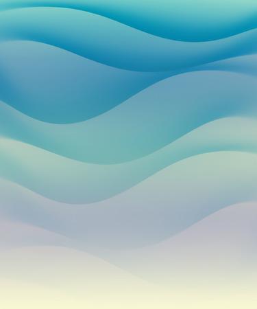 背景として抽象的な青い波