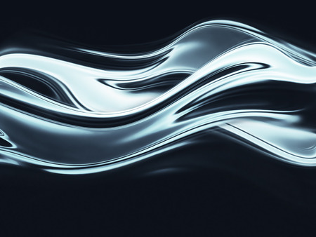 liquid: full screen abstract chrome metal as background Stock Photo