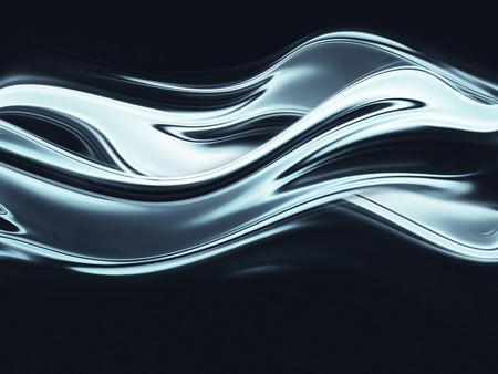 liquido: pantalla completa abstracta de metal cromado como fondo