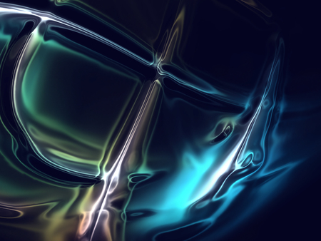 full screen abstract chrome metal as background Archivio Fotografico