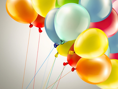festive background: light festive background with bright colorful balloons Stock Photo