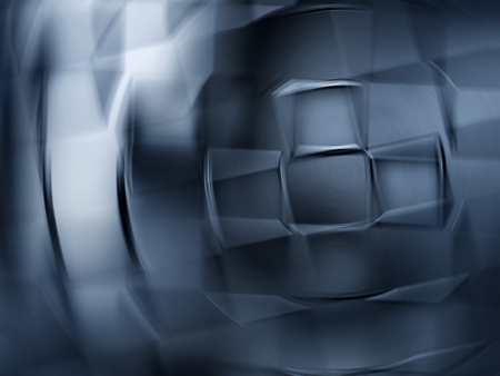 chrome: full screen abstract chrome metal as background Stock Photo