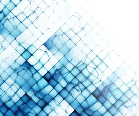 forme geometrique: Formes abstraites bleues sur fond blanc