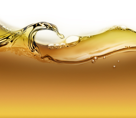 bright wave of oil with air bubbles as background
