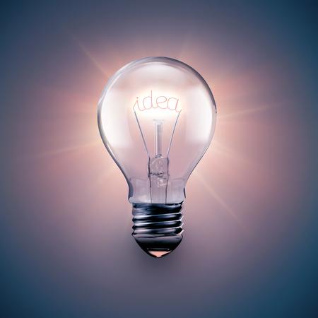 idea bulb: conceptual image of idea with a light bulb