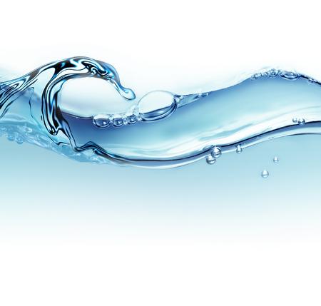 streszczenie fali wody z pęcherzyków powietrza jako tło