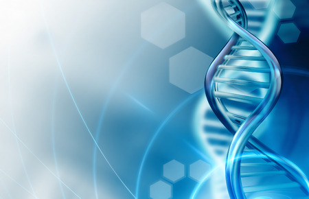 Abstract science background with DNA strands